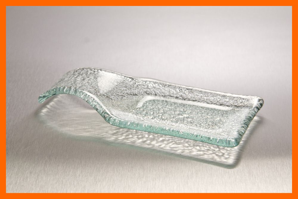 Spoon Caddy Clear Textured 3/16