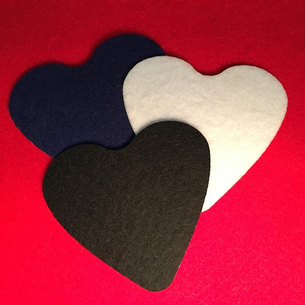 adhesive felt hearts cut to your specs behrenbergglass com