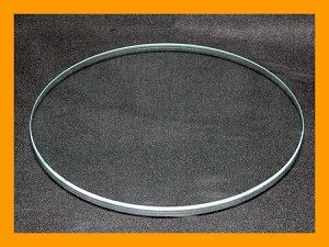 "8"" Round Flat Clear Glass, 3/16"""