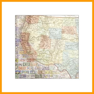 "West US Map - 12"" x 12""-1 Sheet"