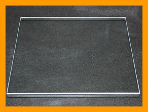 "13"" Square Flat Clear Glass, 3/16"""