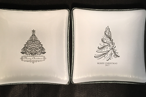Laser Engrave Christmas Trees Plate