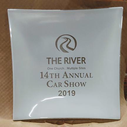 The River Church Car show plate 2019