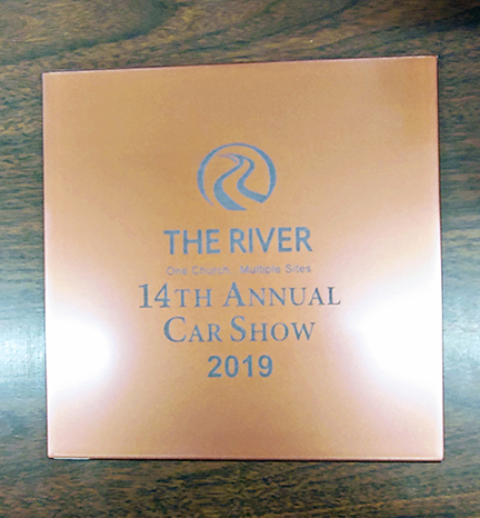 The River Church Car Show Plate