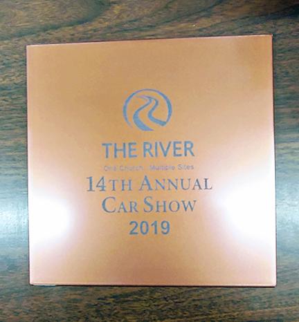 The River Church Car Show Plate