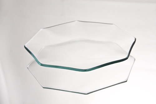 Octagon Glass Plates
