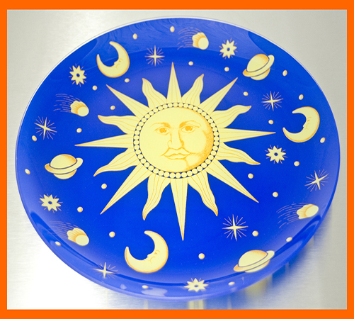 13 Rd Sun and Moon Plate