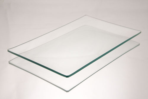Clear Glass Plates for decorating, 5 x 8 rectangle.