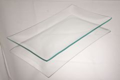 6 x 10 bent glass plate, made from clear float glass