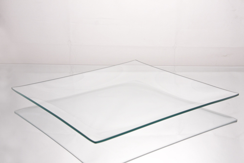 "10"" Square Clear Glass Plates"