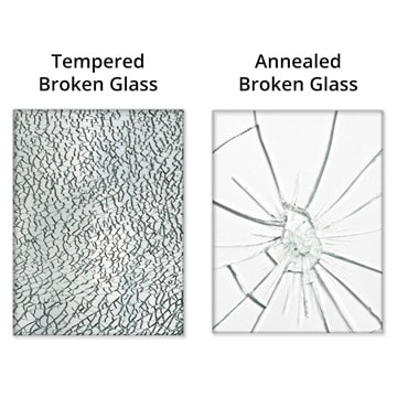 Broken Tempered Glass