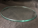 8 Inch Round Flat Clear Glass 3/8
