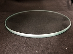 6 Inch Round Flat Clear Glass 3/8