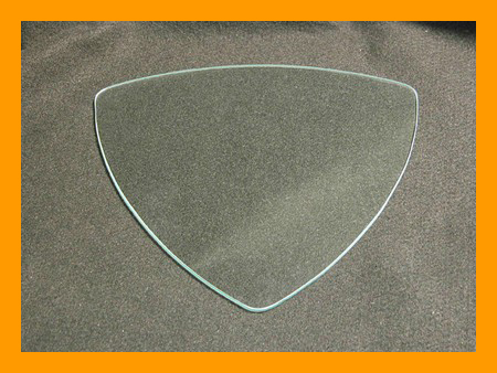 "9"" Triangle Clear Bent Glass Plate"
