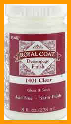 Royal Coat Satin Decoupage Finish - Clear 8 Ounces