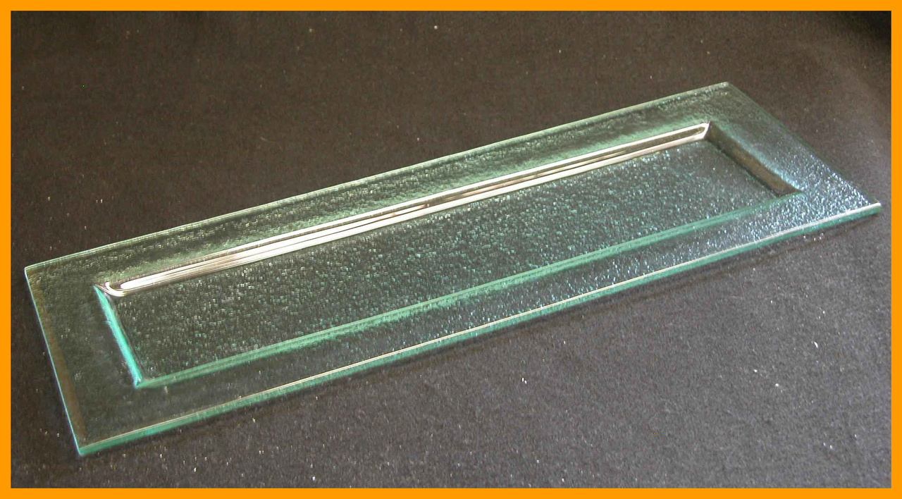 Inch Rectangle Clear Textured Gl Plate