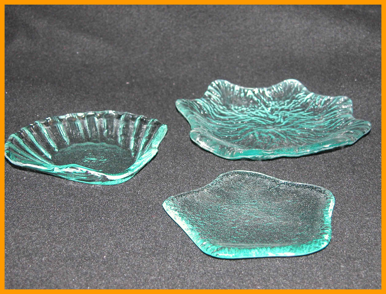 3 Piece Candy/Soap Dish Set (Star, Sea Shell and Leaf), Textured