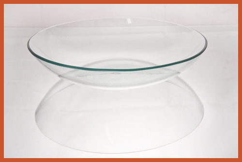 "10"" RD Bowl Clear Glass Plate"
