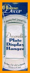 White Decorative Plate Hanger For 7 1/2
