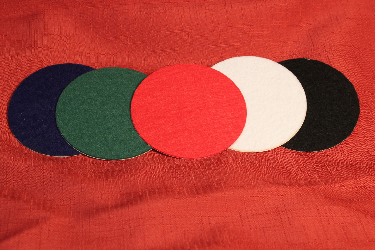Red Felt Circles for DIY and Sewing Handcraft Adhesive Felt Circles 1 Inch 100 Count, Red