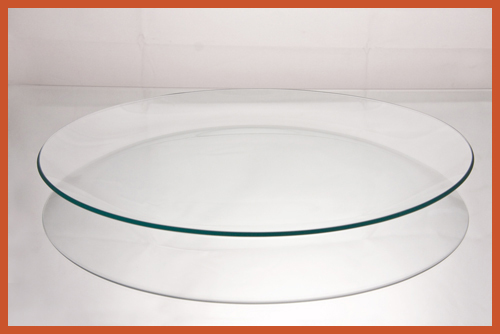 "12"" Round Clear Glass Plate"