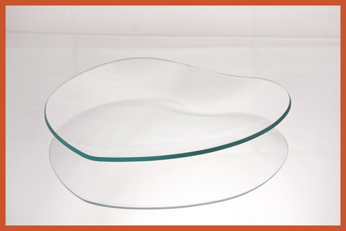 "8"" Heart Clear Glass Plate"