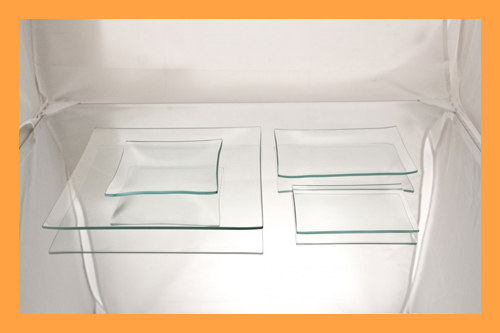 Kit #1- Small Rectangle/Square Clear Glass Plate Variety Kit