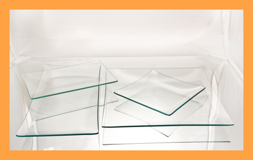 Kit #2- Medium Rectangle/Square Clear Glass Plate Variety Kit