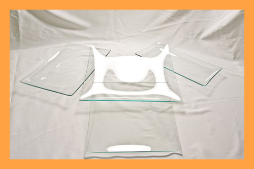 Kit #4- Large Rectangle/Square Clear Glass Plate Variety Kit