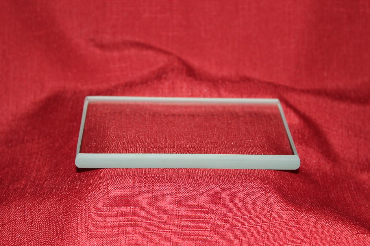 Clear Glass Rectangular Paperweight