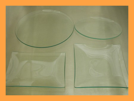 Kit #7- Four Assorted Clear Glass Plate Shape Variety Kit