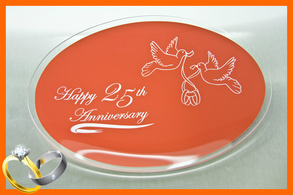 Happy 25th Anniversary Plate