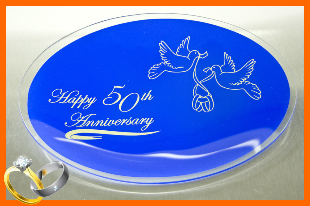 Happy 50th Anniversary Plate