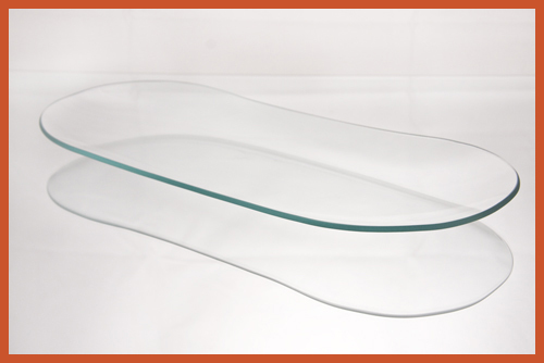 "5"" x 12"" Bread Tray Clear Glass Plate"