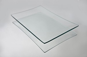 "2nds - 16"" x 20"" Rectangle Clear Glass Plate, 3/16"""