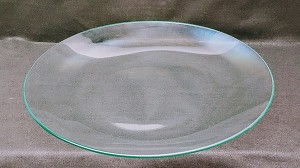 "2nds - 18"" Round Clear Glass Bowl, 3/16"""