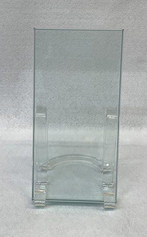 "4"" x 6"" x 1/2"" thick clear glass with flat polished edge"