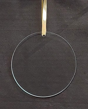 "5"" Round Ornament Polished Edge, 1/8"" thick"