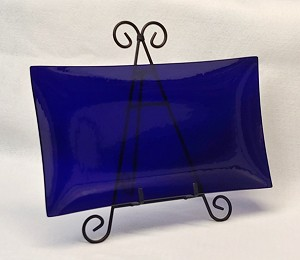 "8"" x 14"" Rectangle Clear ""BENT"" Glass Plate  1/8"