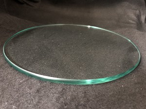 "8"" Round Flat Glass 3/8"" Thick with a Polished Edge"