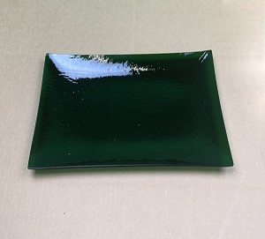 "8"" x 14"" Rectangle Clear ""BENT"" Emerald Green"