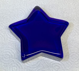 "4 1/2"" Star Cobalt Crystal Paperweight"