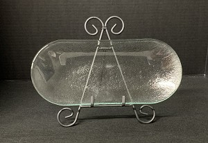 "5"" x 12"" Bread Tray Plus Clear Textured 3/16"""
