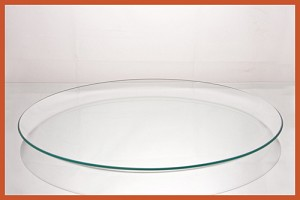 "14"" Round Bent Clear Glass Plate 3/16"