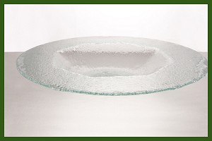 "18"" Round Octagonal Well Rim Clear Textured 3/16"""