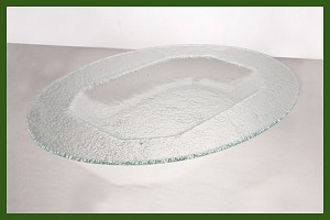 "14"" x 19"" Oval Octagonal Well Clear Textured 3/16"""