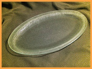 "11"" x 22""  Rim Oval Clear Textured 3/16"""