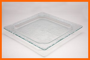 "10"" Square Octagonal Well Shallow Textured 3/16"""