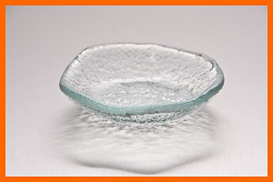 "4"" Coupe Monkey Dish Clear Textured 3/16"""