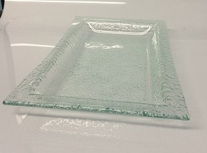 "7"" x 14"" Deep Rectangle Clear Textured 3/16"""